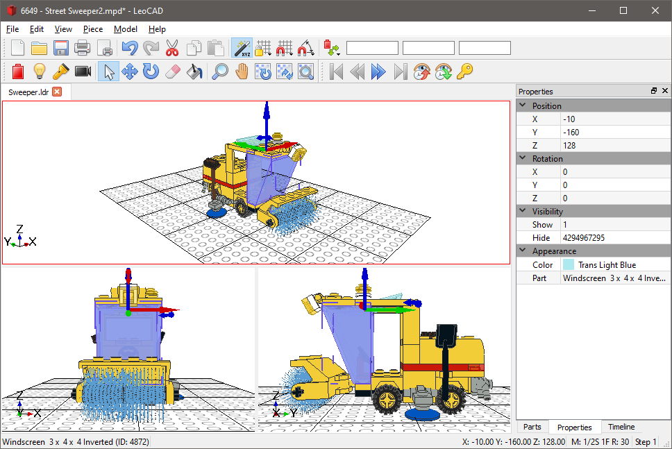 Leocad Virtual Lego Cad Software