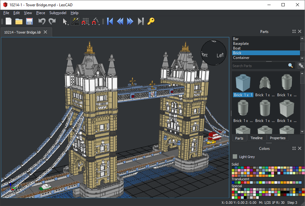 Leocad virtual lego cad software for Simple architectural drawing software